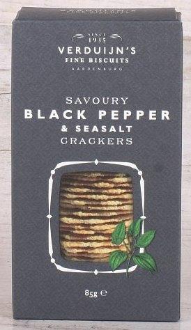 Feine Biscuits mit Black Pepper und Seasalt